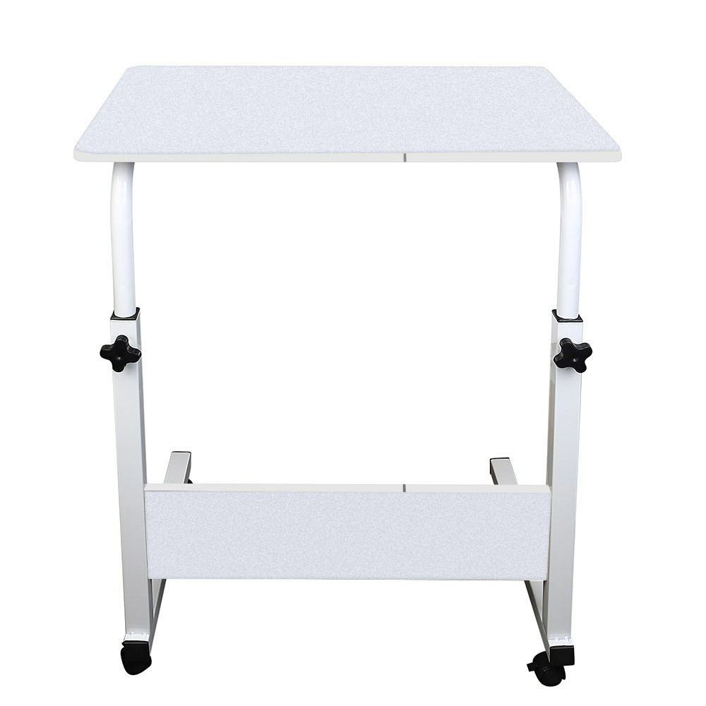 Movable Laptop Bed Tray Table Adjustable Lap Desk - White
