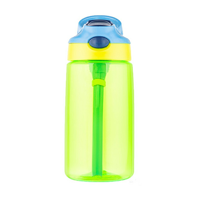 500ML Kids Sports Leak-proof Water Bottle with Straw - Green