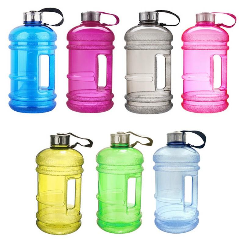2.2L Big Sport Water Bottle BPA Free Leakproof Gym Drinking Kettle - Yellow