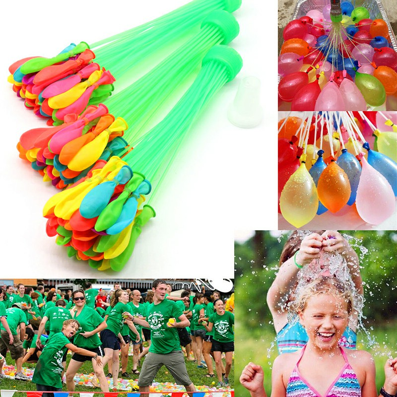 111 PCS Assorted Colour Fast Fill Magic Water Balloons