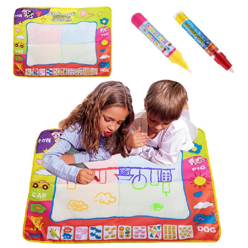 80x60CM Children Aqua Doodle Drawing Mat with 2 Magic Pens