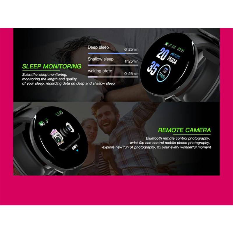 IP65 Heart Rate Monitor Bluetooth Fitness Tracker Smart Watch
