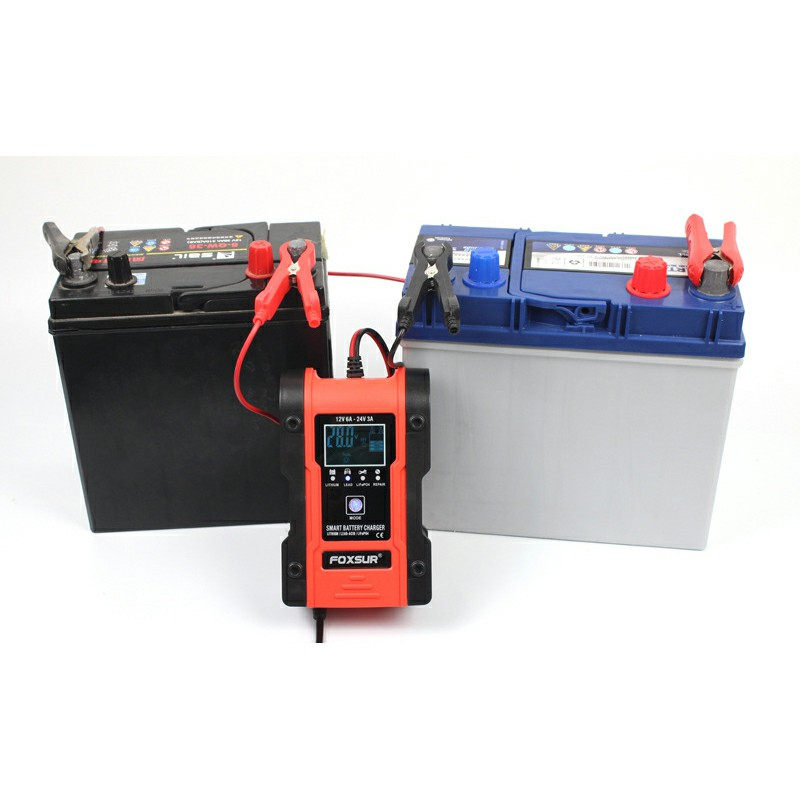 LCD Display 12v Automatic Fast Battery Charger Maintainer