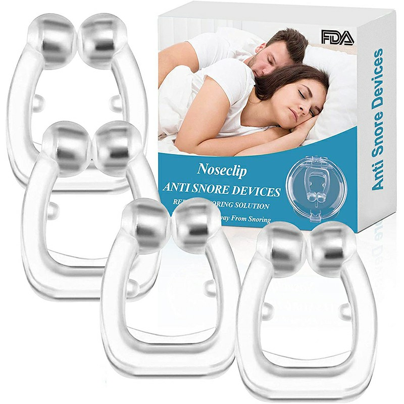 4 pcs  Silicone Magnetic Snoring Stop