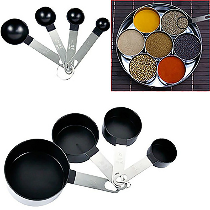 8pcs Stainless Steel Measuring Cups and Spoons