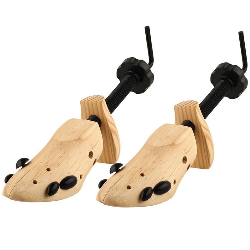 2pcs Women Wooden Shoe Stretcher and Shaper Size M