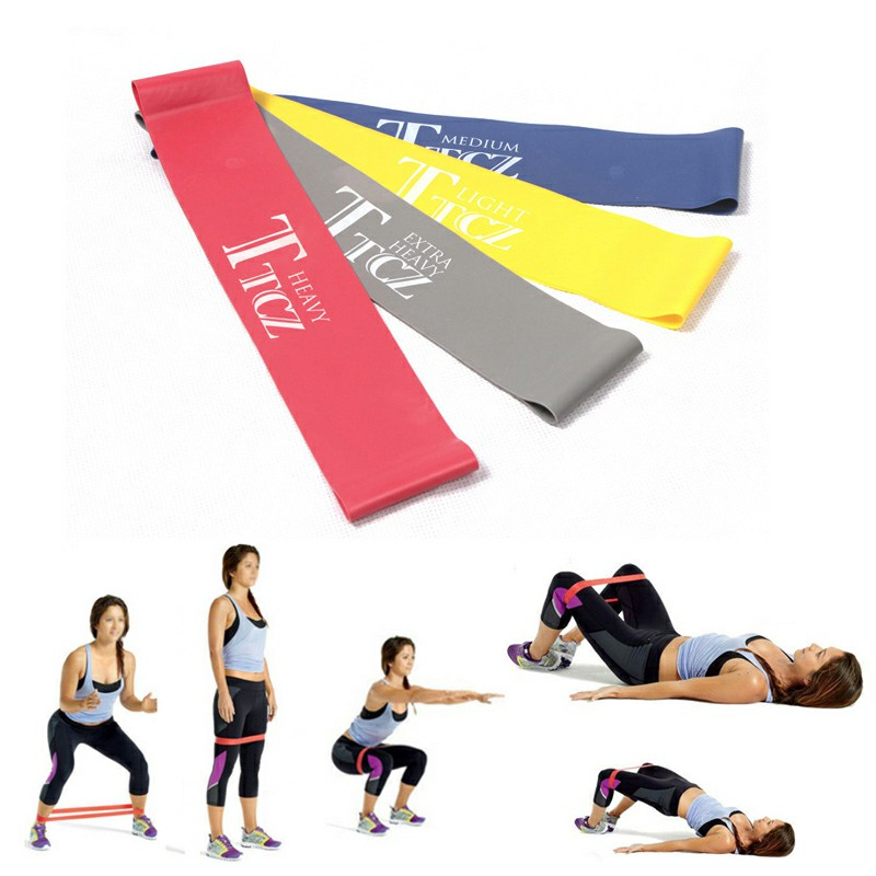 Exercise Fitness Resistance Bands 500x50x0.9mm - Gray