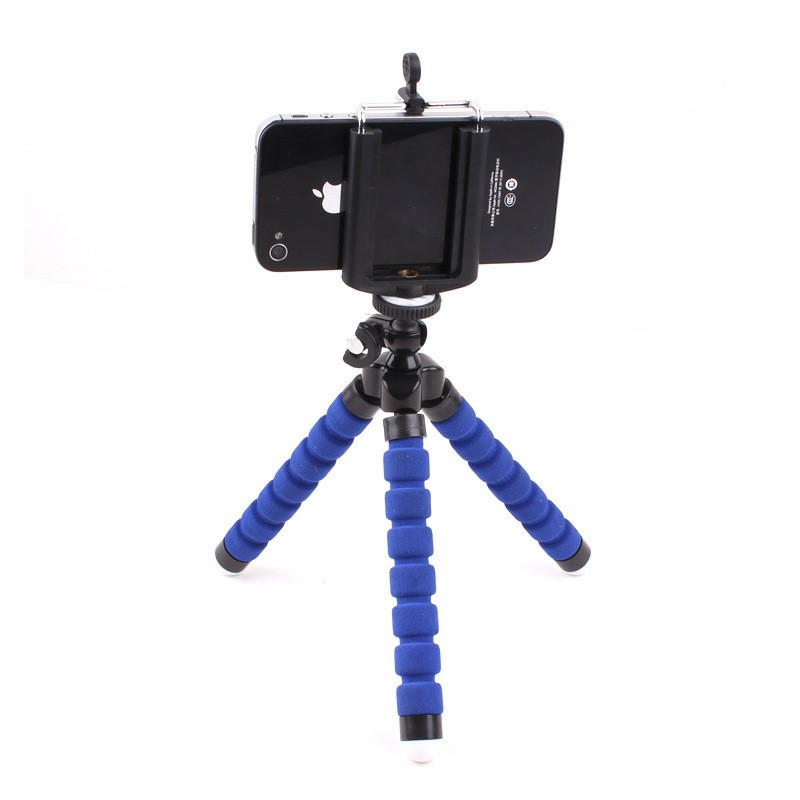 Octopus Mini TriPod Stand Grip Holder for Mobile Phones Camera - Blue