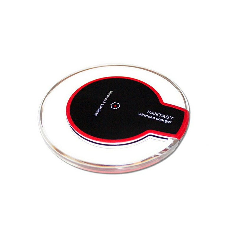 Qi Wireless Charging Pad Station for iPhone Samsung Smartphone - White