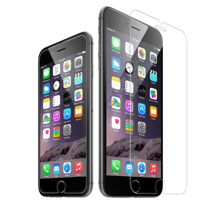 Straight Edge Tempered Glass Screen Protector for iPhone 7 / 8 Plus