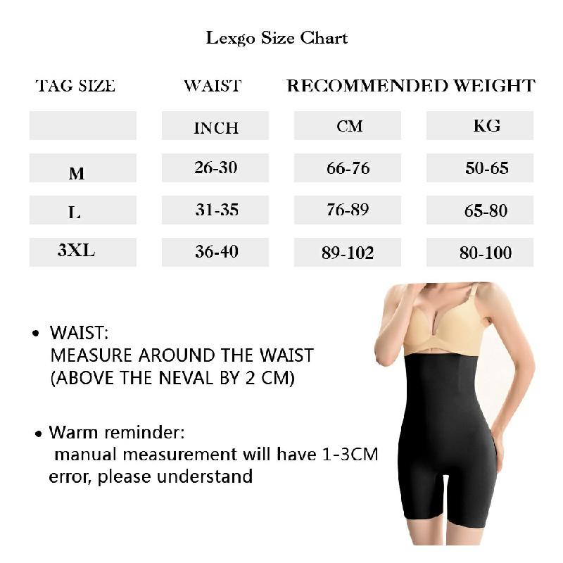 Women High Waist Fat Burner Shapewear Pants - 3XL Black