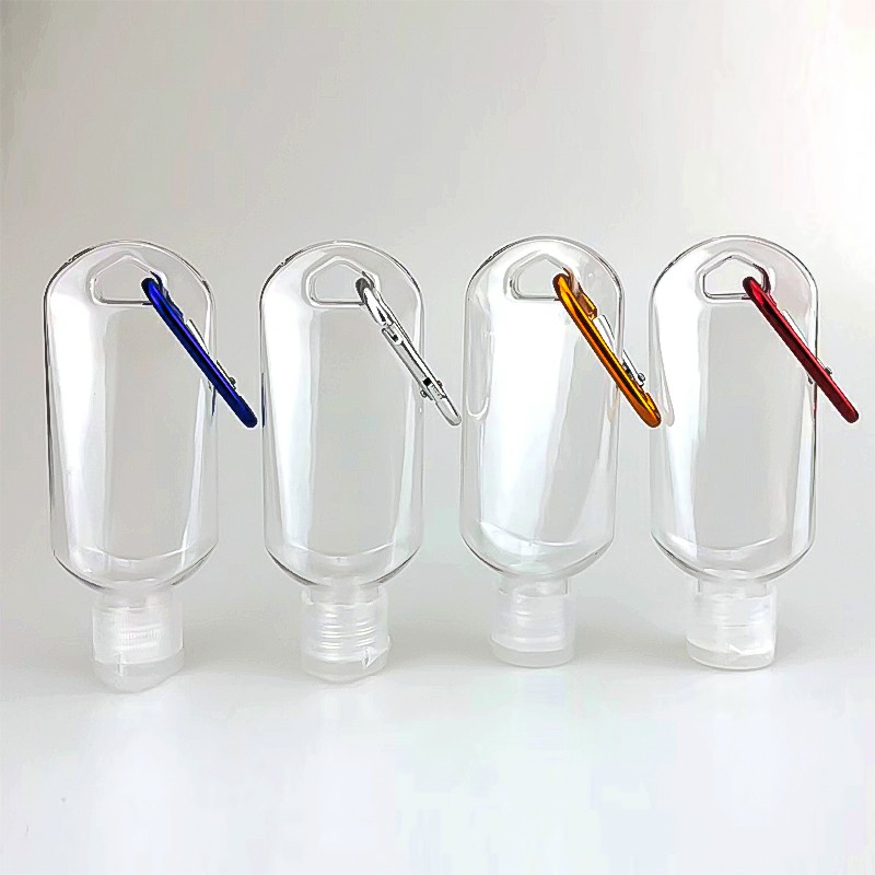 10 pcs Empty Plastic Refillable 50ml Bottle with Belt Clip Hooks