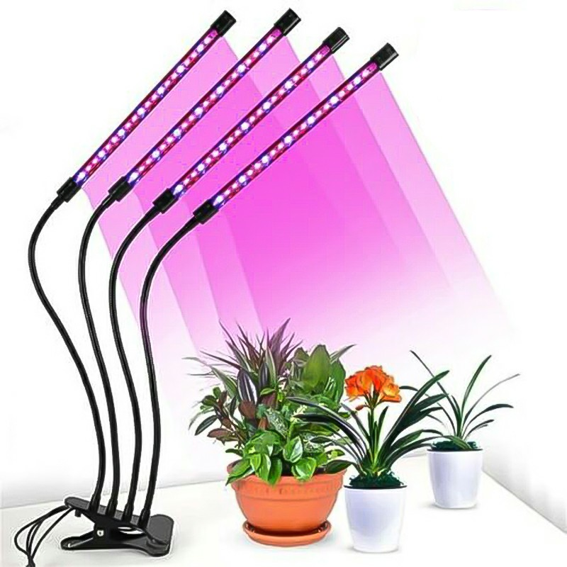 4 Head Dimmable UV LED Plant Growing Lamp