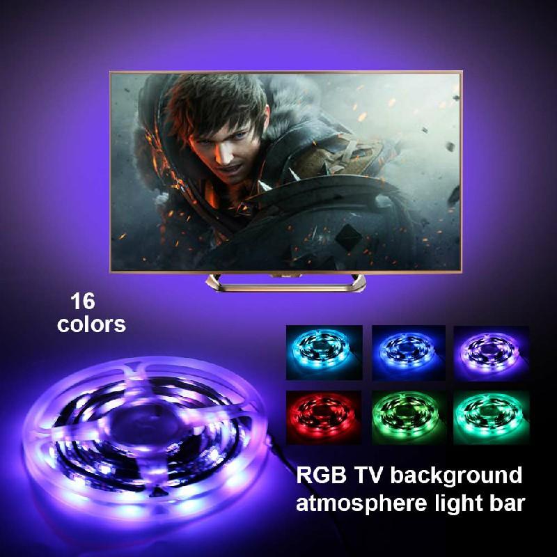 USB TV Back Light RGB Backlight LED Lights 4 Strips Background with Remote 5V