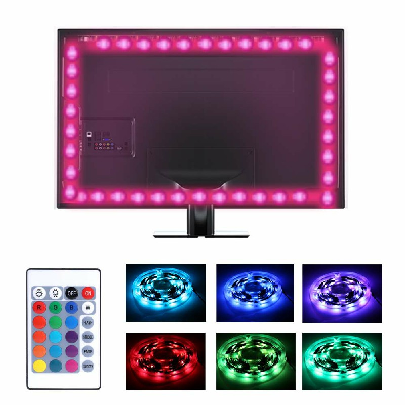 4 Strips Background USB TV RGB Back Light with Remote 5V