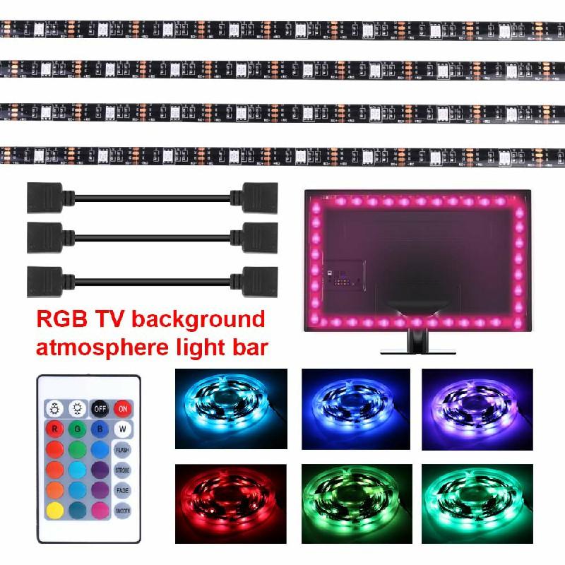 4 Strips Background USB TV RGB Back Light with Remote 5V