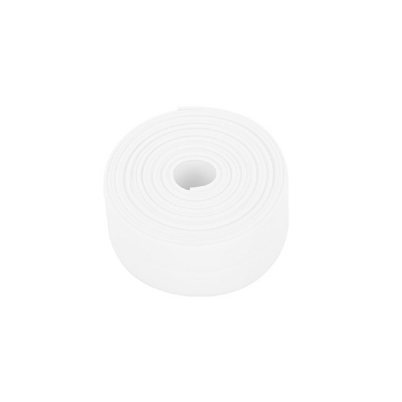 Bathroom Kitchen Self Adhesive Caulk Tape Strip 2.2x3.2cm - White