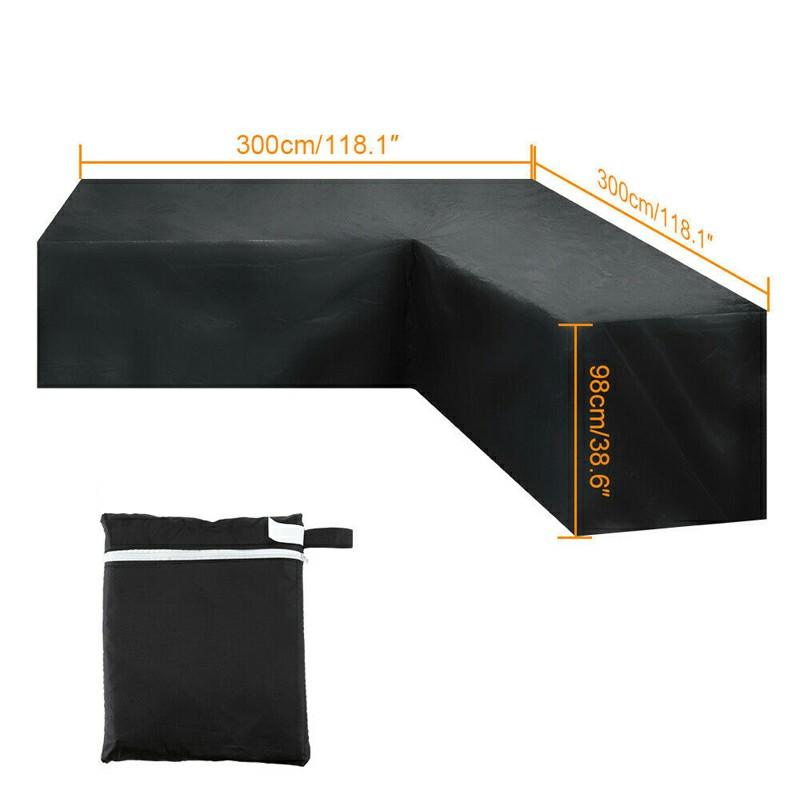 Waterproof Rattan Corner Furniture Cover - 300x300x98cm