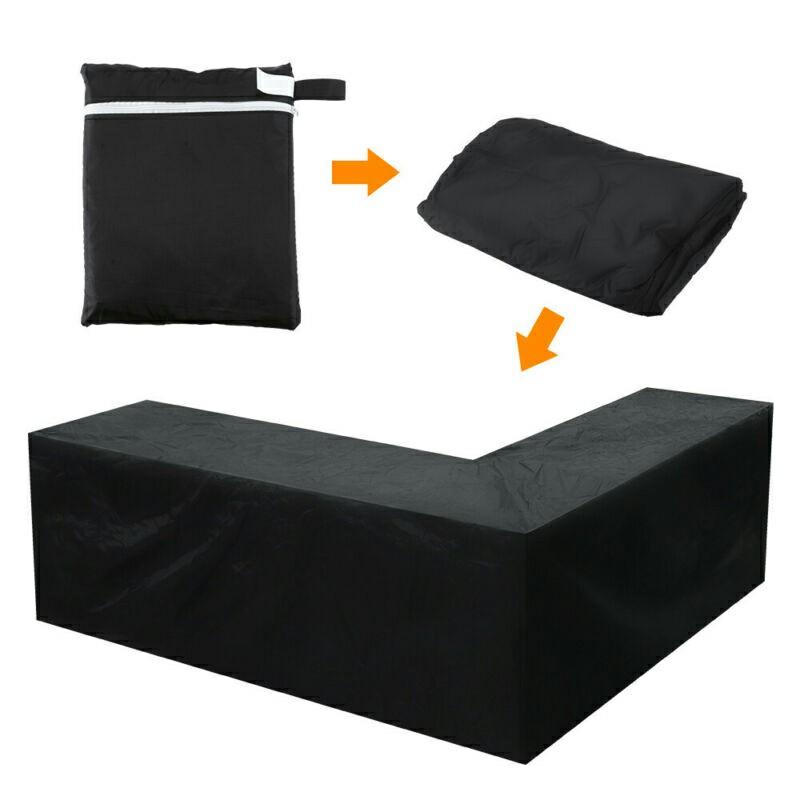Waterproof Rattan Corner Furniture Cover Garden Outdoor Sofa Protector
