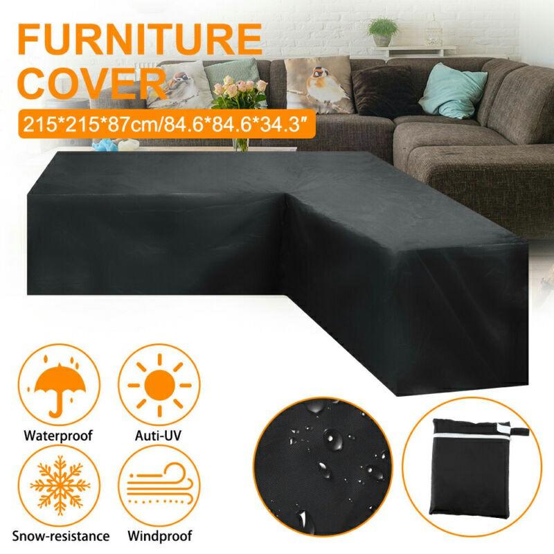 Waterproof Rattan Corner Furniture Cover - 270x270x90cm