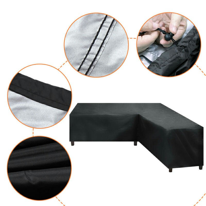 Waterproof Rattan Corner Furniture Cover - 215x215x87cm