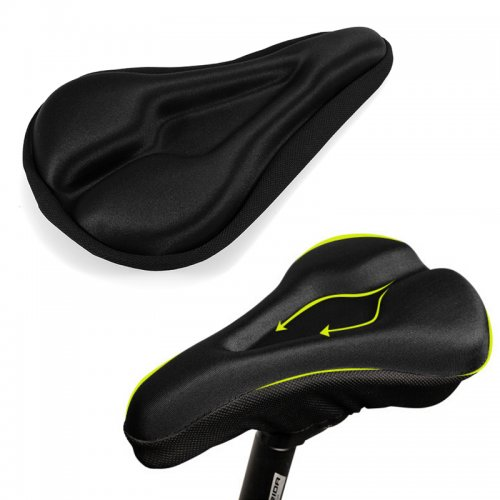 3D Bicycle Soft Seat Cover and Saddle Cushion - Black