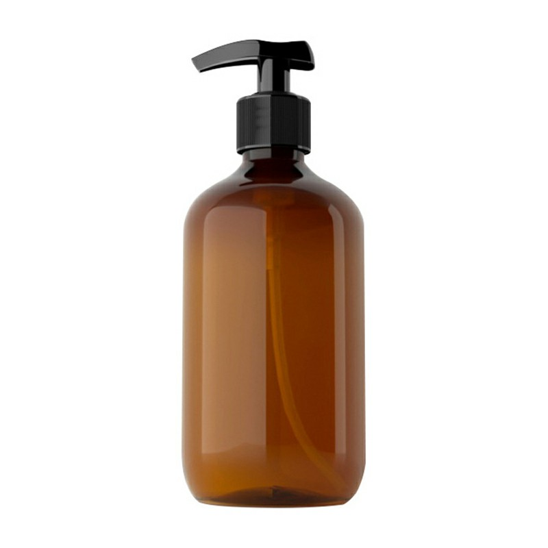 500ml Refillable Empty Bottle Press Pump Liquid Soap Dispenser - Brown