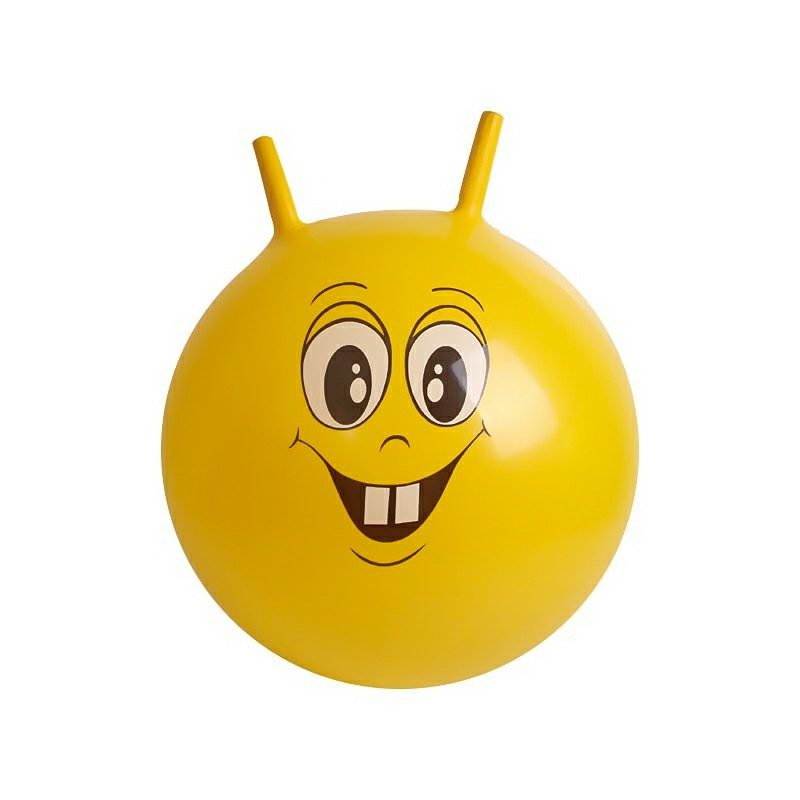 Large Space Hopper Inflatable Kids jumping Bounce Ball with Foot Inflator - Yellow