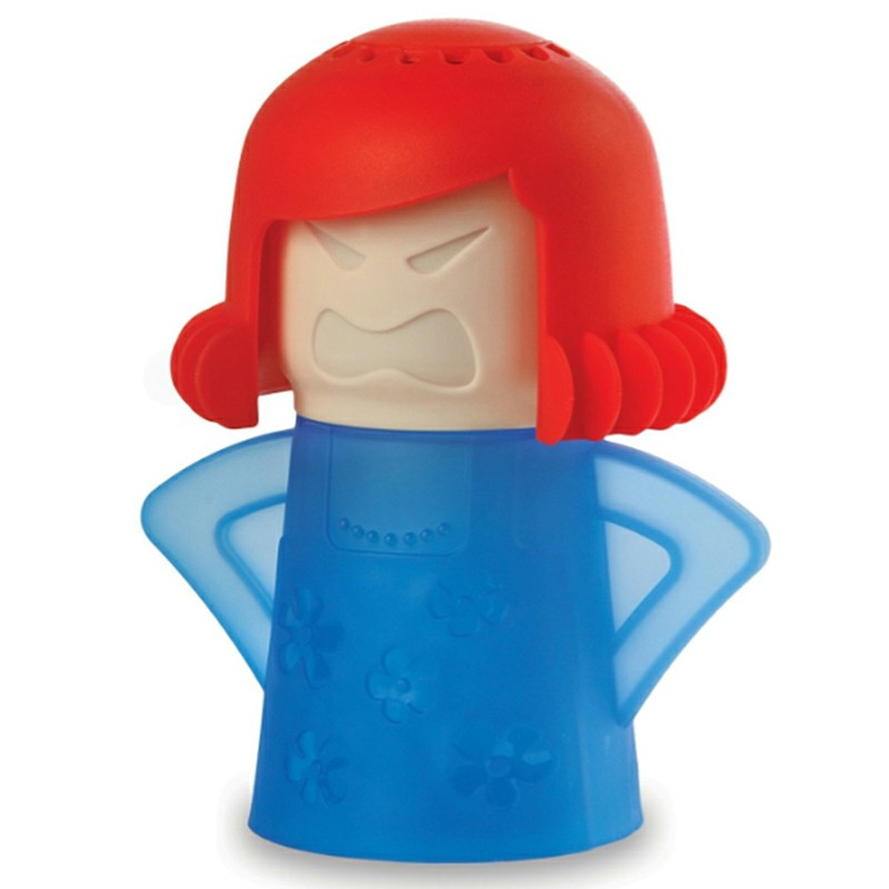 Angry Mama Cartoon Microwave Oven Steam Cleaner - Blue