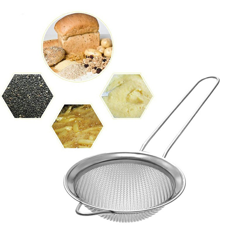 Stainless Steel Wire Mesh Filter Sieve Spoon - 7cm