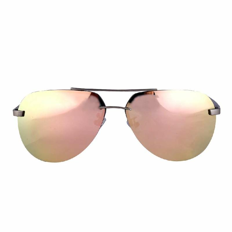 Aluminum Frame Polarized Sunglasses - Pink