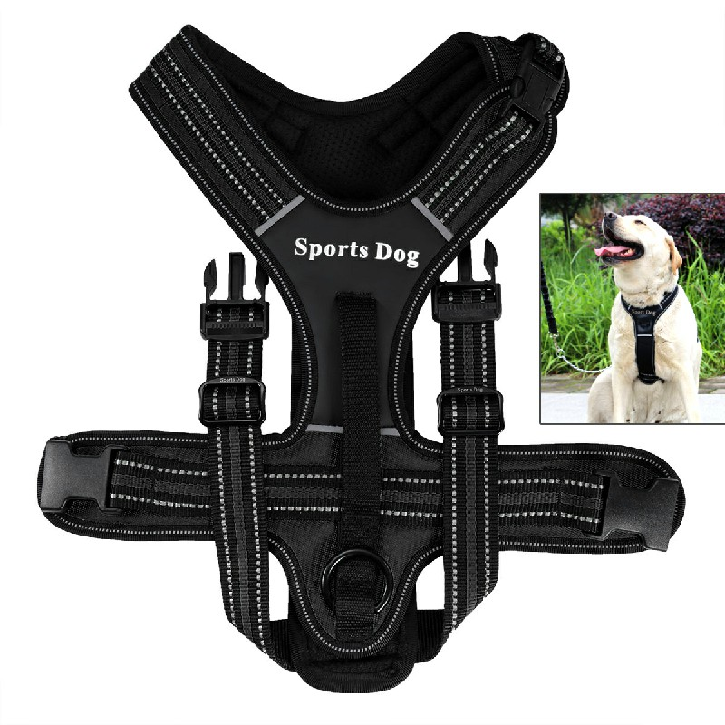 Pet Control Harness Soft Walking Collar Vest Size M - Black