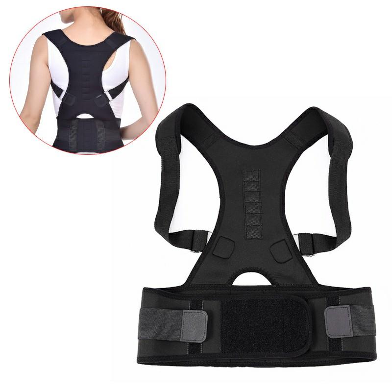 Size S Magnetic Posture Support Back Shoulder Corrector  - Black