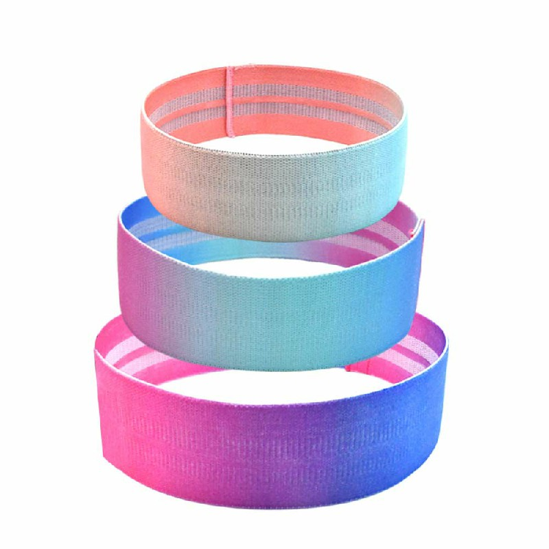 Pushing up Hip Band Squat Gym Exercise Band L 86x8cm - Blue+Red