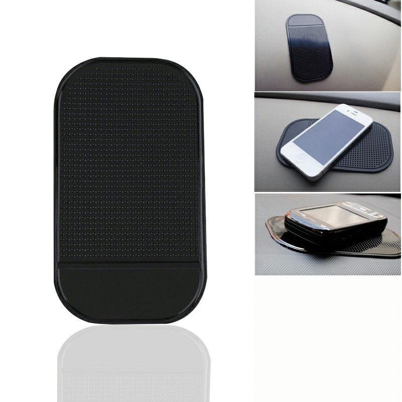 Car Dashboard Anti-Slip Phone Sticky Holder Mat - Black