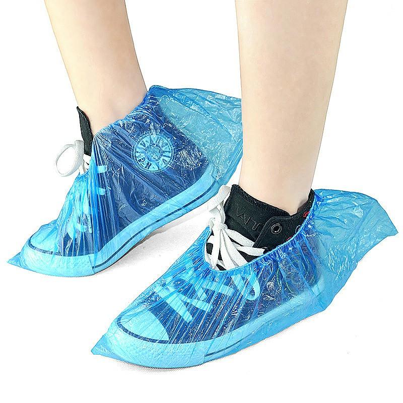 50 Pair Disposable Blue Shoe Cover