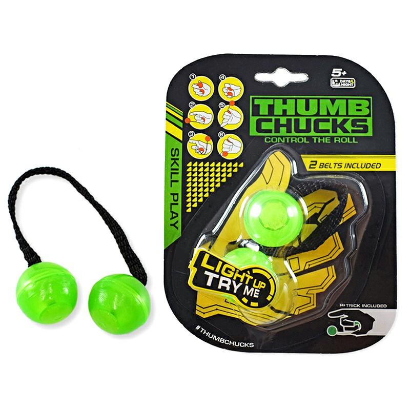 Night Glowing Yo-yo Fidget Spinner Toys - Green