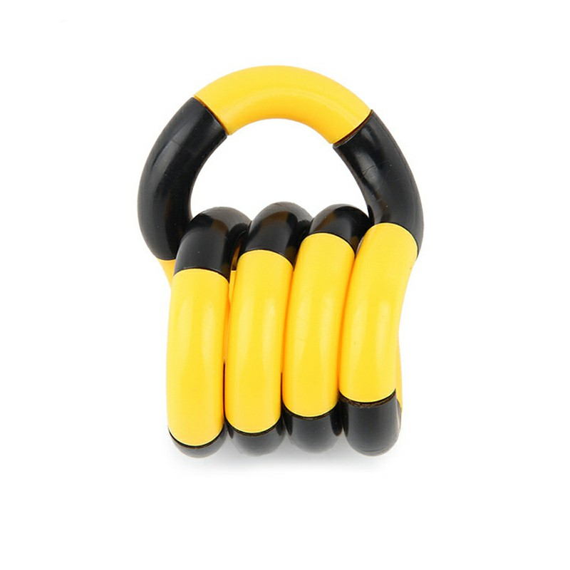 Tangle Fiddle Fidget Toy Anti-Stress - Black + Yellow