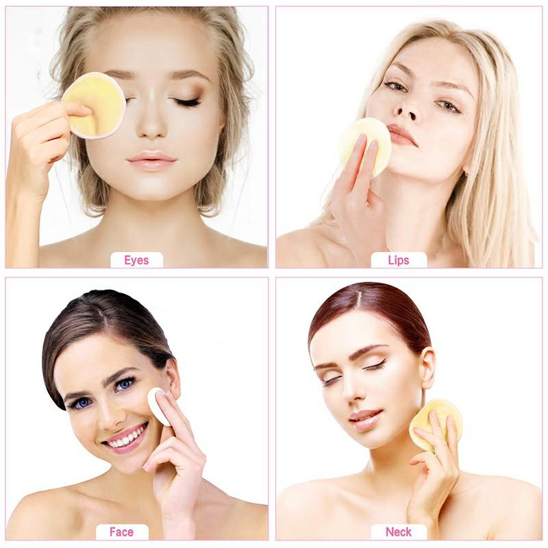 Natural Reusable Soft Gentle Makeup Remover Pads - Yellow