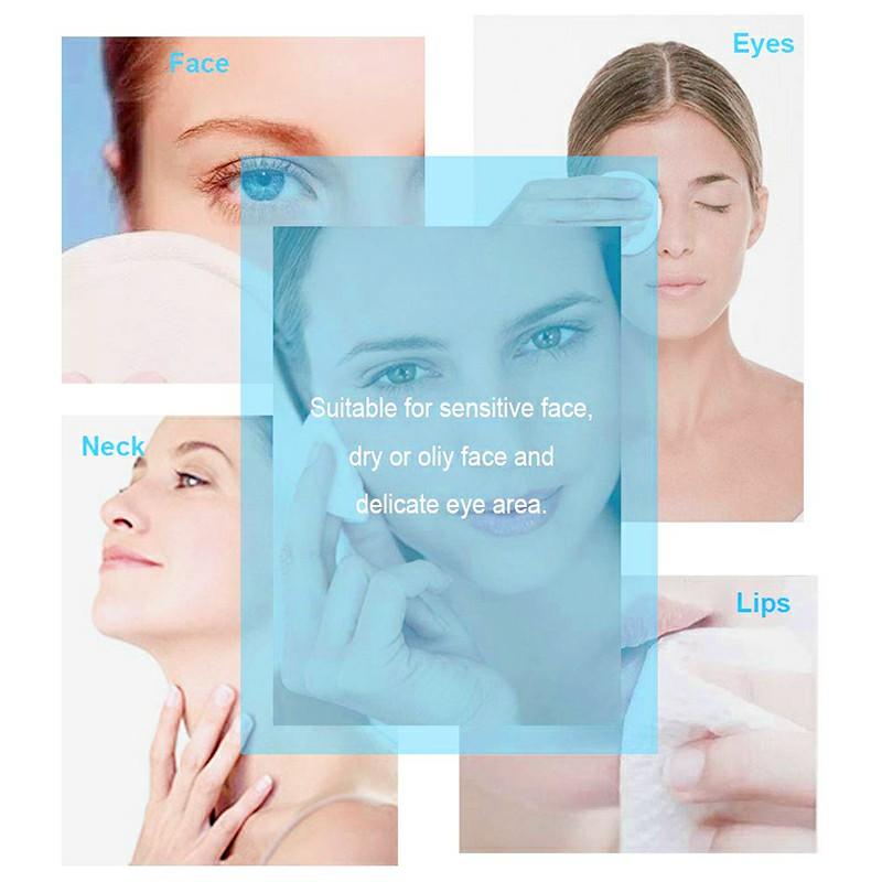 Natural Reusable Soft Gentle Makeup Remover Pads - Blue