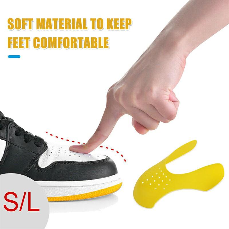 Reusable Anti Crease Sneaker Shields for Men UK 7-12 - Yellow