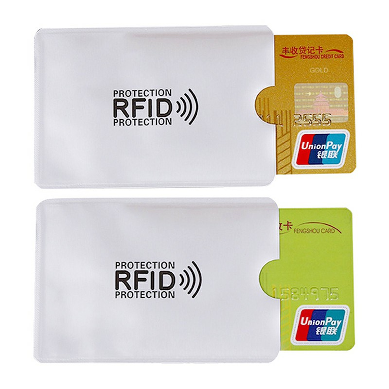 Bank Card Blocking Contactless Debit Credit Protector Sleeve Rfid Wallet Case