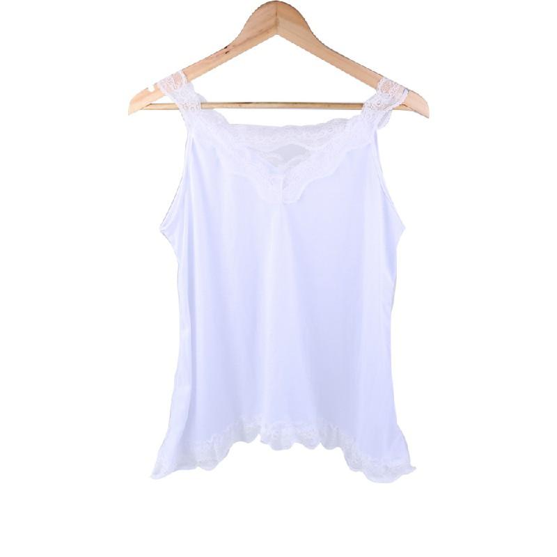 Women Boho Plus Size Loose White Lace Blouse - 5XL