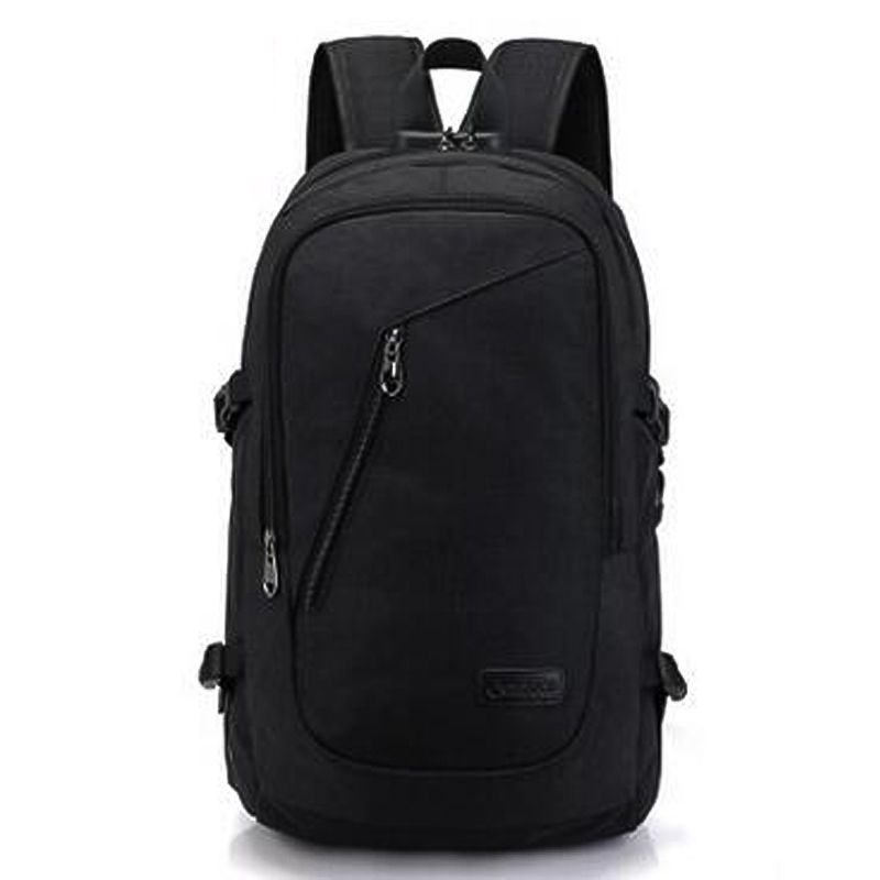Laptop Backpack Work Travel School Bags + USB Charging Port - Black