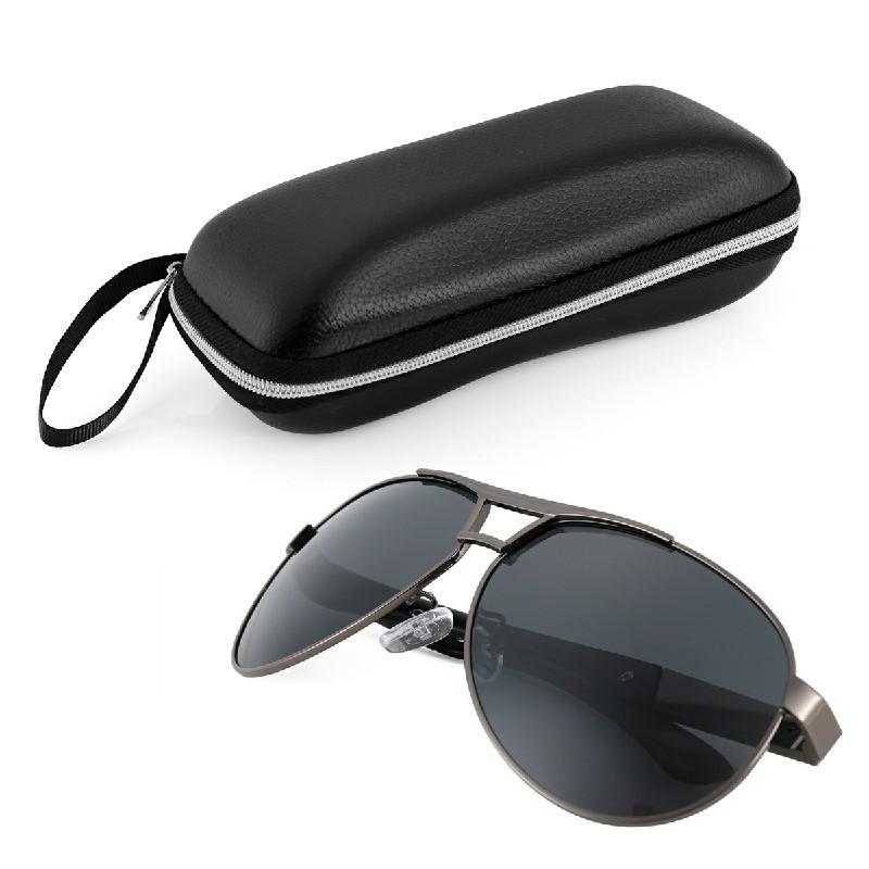 Aluminum Frame Polarized Sunglasses - Grey
