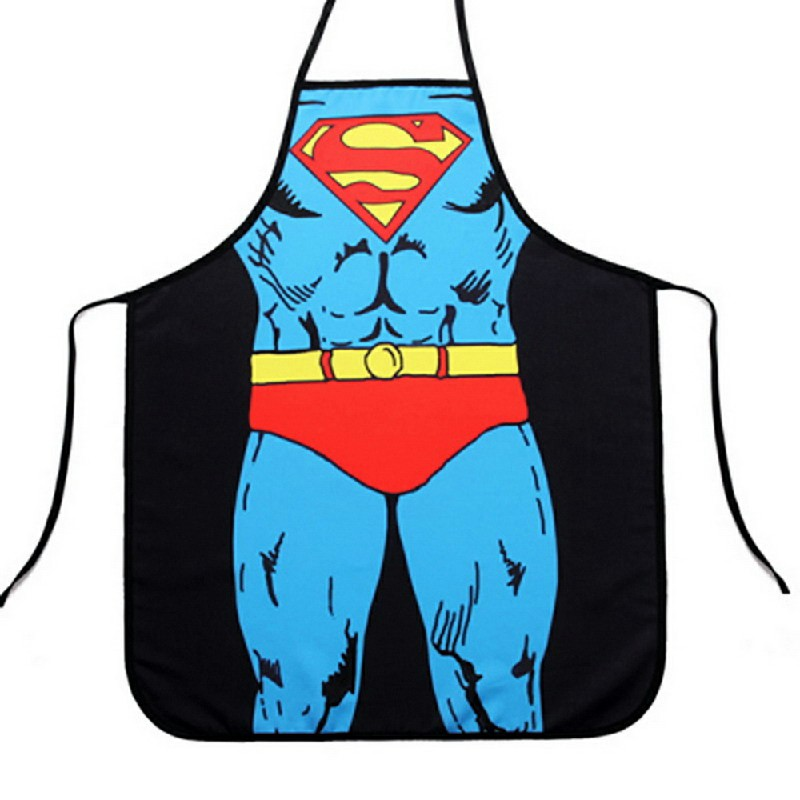 Funny Novelty Sexy Cooking Kitchen Aprons - Superman
