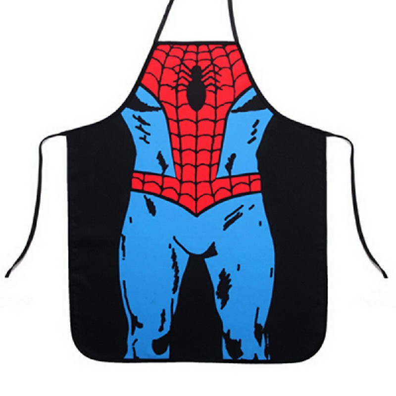 Funny Novelty Sexy Cooking Kitchen Aprons - Spiderman