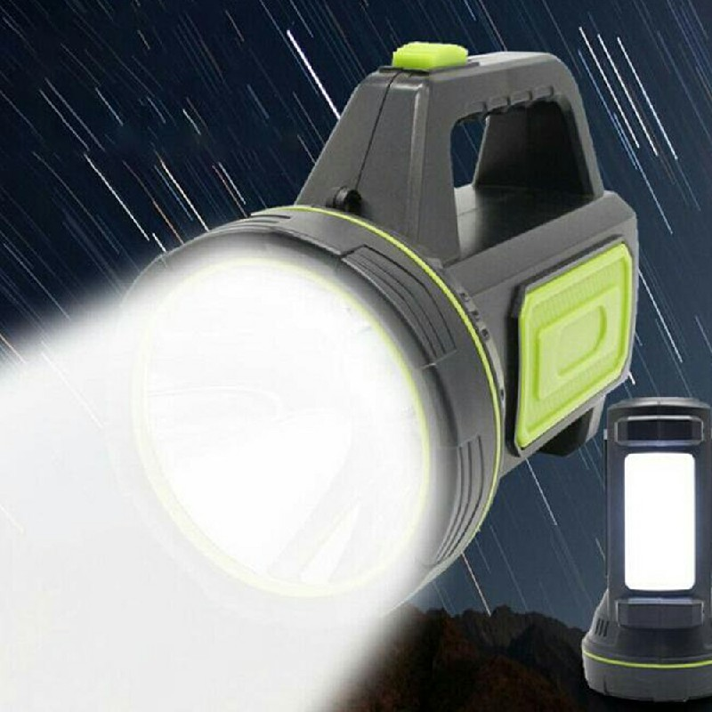 135000LM LED Spotlight USB Rechargeable Hand Torch with Side Light