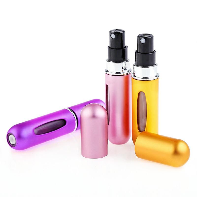 5ml Portable Mini Refillable Perfume Bottle for Travel - Pink