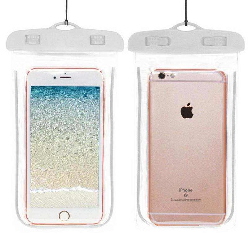 Waterproof Phone Case Dry Bag - White